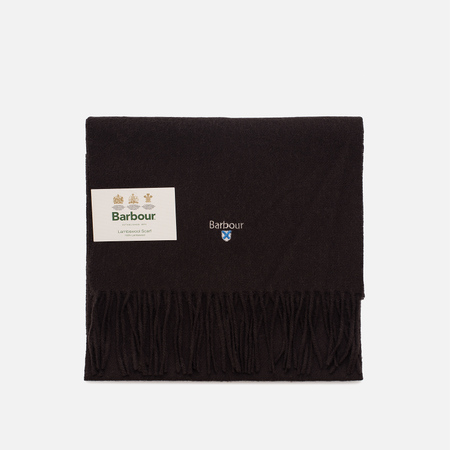 Шарф Barbour Plain Lambswool Chocolate