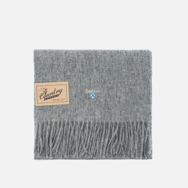 Шарф Barbour Plain Lambswool Light Grey Marl