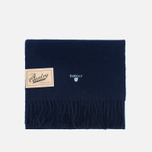 Barbour Plain Lambswool Scarf Navy photo- 0