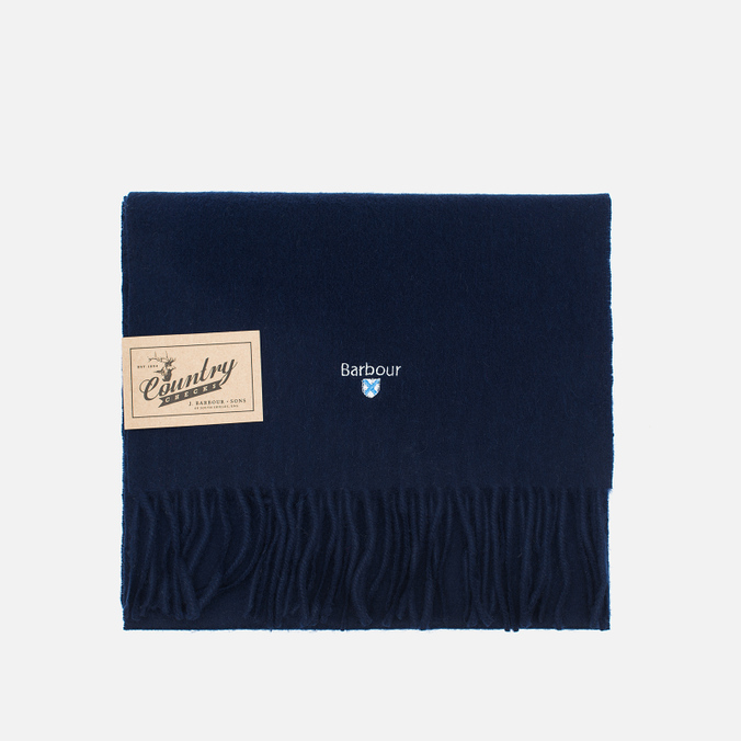 Шарф Barbour Plain Lambswool Navy