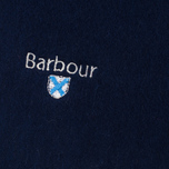 Barbour Plain Lambswool Scarf Navy photo- 1