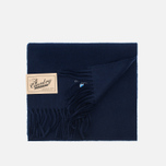 Barbour Plain Lambswool Scarf Navy photo- 3
