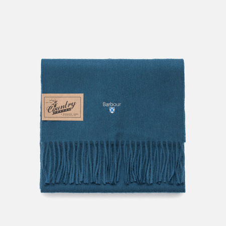 Шарф Barbour Plain Lambswool Teal Blue