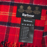 Barbour Tartan Lambswool Scarf Cardinal photo- 2