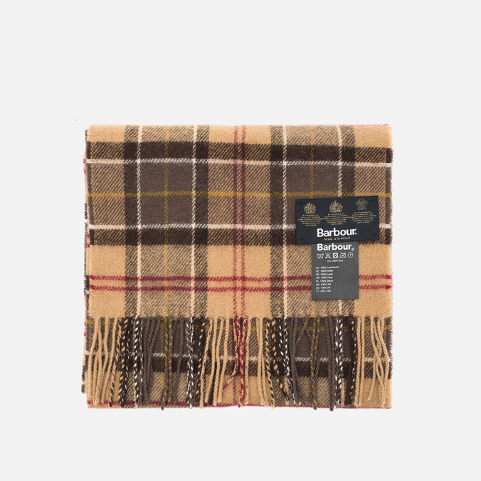 Barbour Tartan Lambswool scarf Muted