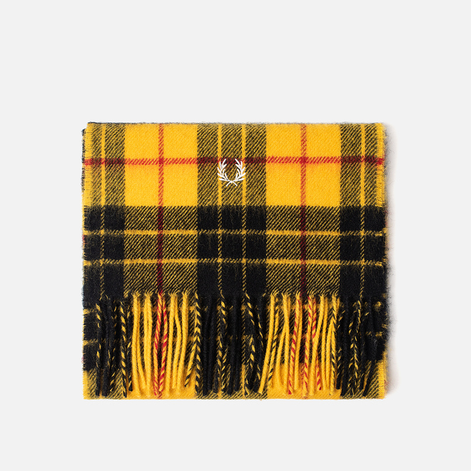 Шарф Fred Perry Macleod Tartan Bright Yellow