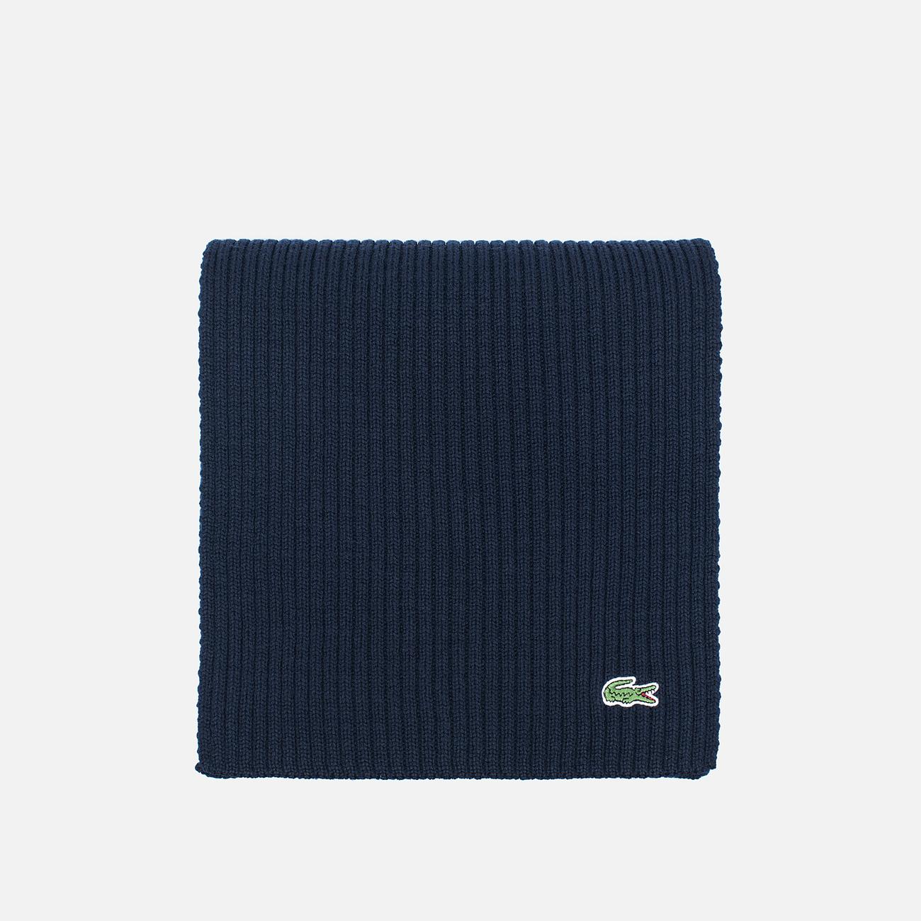 Шарф Lacoste Green Croc Wool Navy