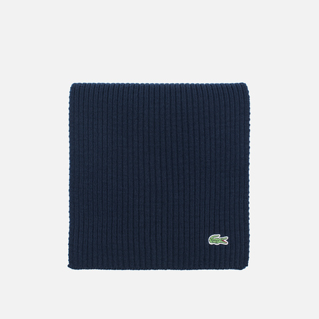 Мужской шарф Lacoste Green Croc Wool Navy