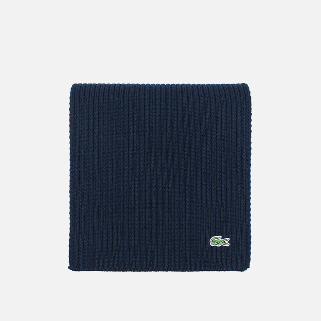 Шарф Lacoste Green Croc Wool Navy