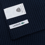 Мужской шарф Lacoste Green Croc Wool Navy фото- 3