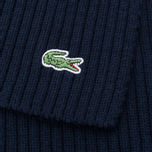 Мужской шарф Lacoste Green Croc Wool Navy фото- 2