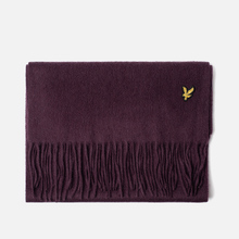 Шарф Lyle & Scott Plain Lambswool Burgundy фото- 0