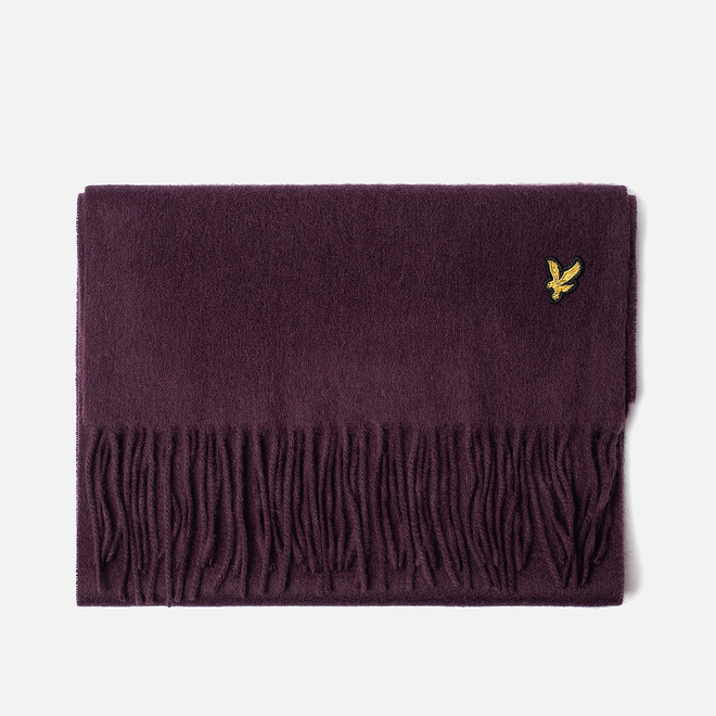 Шарф Lyle & Scott Plain Lambswool Burgundy