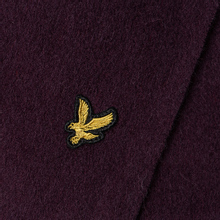 Шарф Lyle & Scott Plain Lambswool Burgundy фото- 2