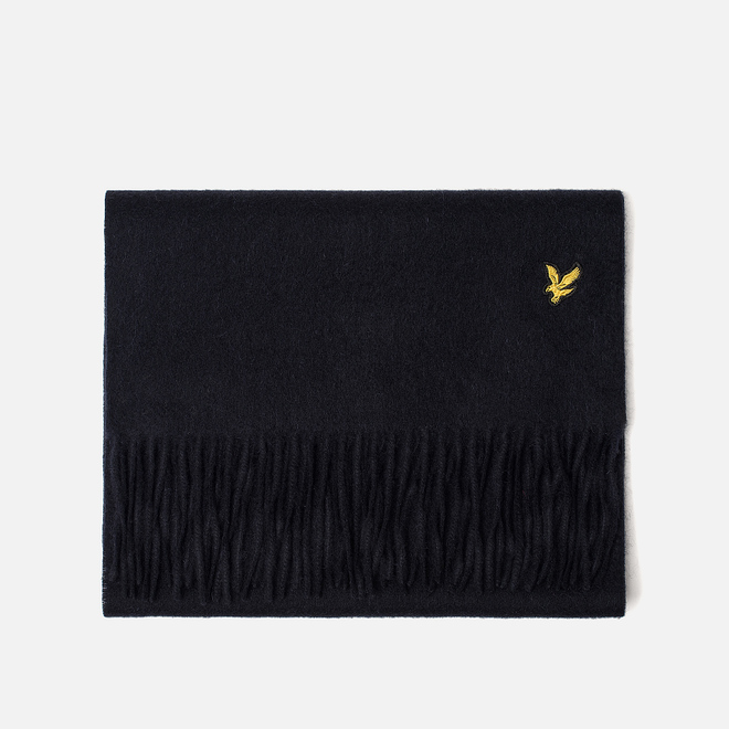 Шарф Lyle & Scott Plain Lambswool Dark Navy