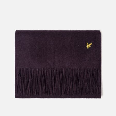 Шарф Lyle & Scott Plain Lambswool Deep Plum