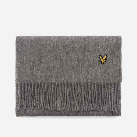 Шарф Lyle & Scott Plain Lambswool Mid Grey Marl