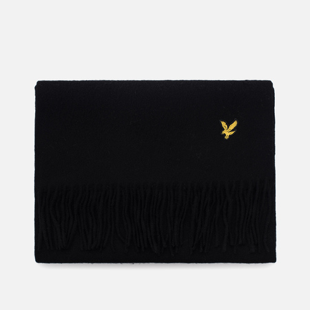 Шарф Lyle & Scott Plain Lambswool True Black
