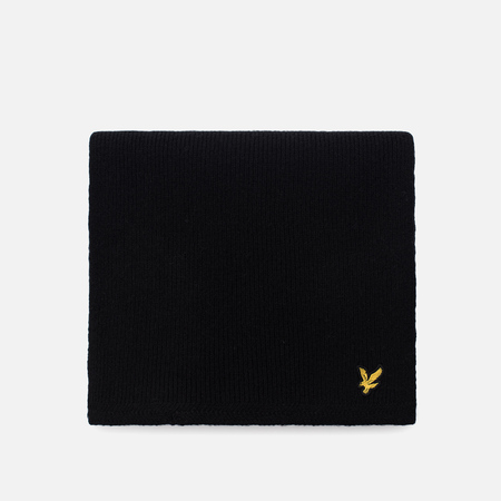 Шарф Lyle & Scott Racked Rib True Black