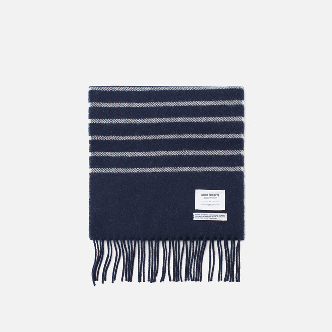 Norse Projects x Johnstons Scarf Dark Navy