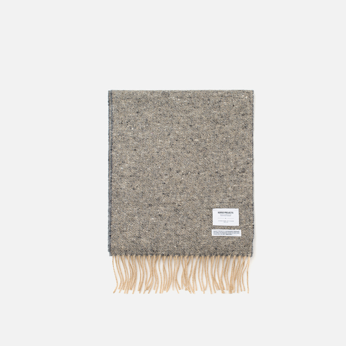 Шарф Norse Projects x Johnstons Donnegal Light Grey Melange