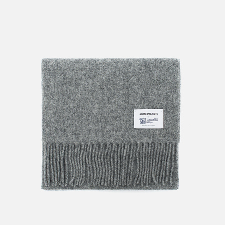 Norse Projects x Johnstons Lambswool Mouse Scarve Grey Melange