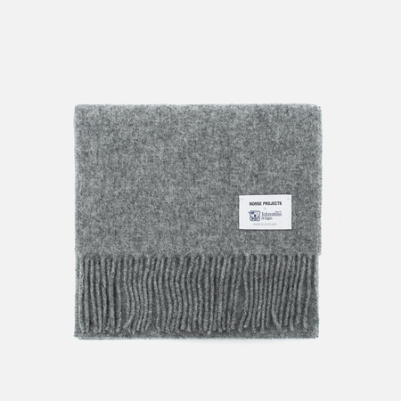 Шарф Norse Projects x Johnstons Lambswool Mouse Grey Melange