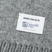 Шарф Norse Projects x Johnstons Lambswool Mouse Grey Melange фото- 1