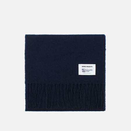 Norse Projects x Johnstons Lambswool Scarve Navy