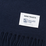 Мужской шарф Norse Projects x Johnstons Lambswool Navy фото- 1