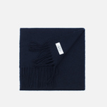 Мужской шарф Norse Projects x Johnstons Lambswool Navy фото- 2