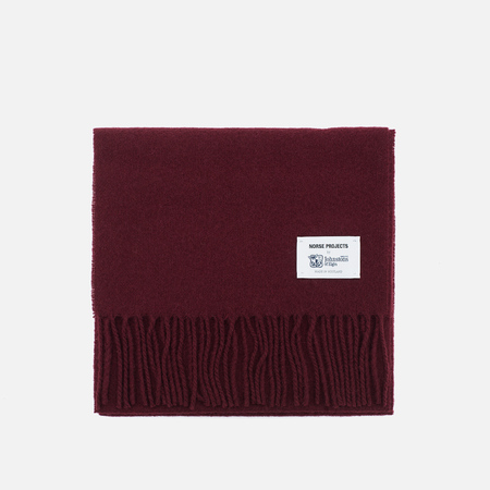 Norse Projects x Johnstons Lambswool Scarve Red Clay