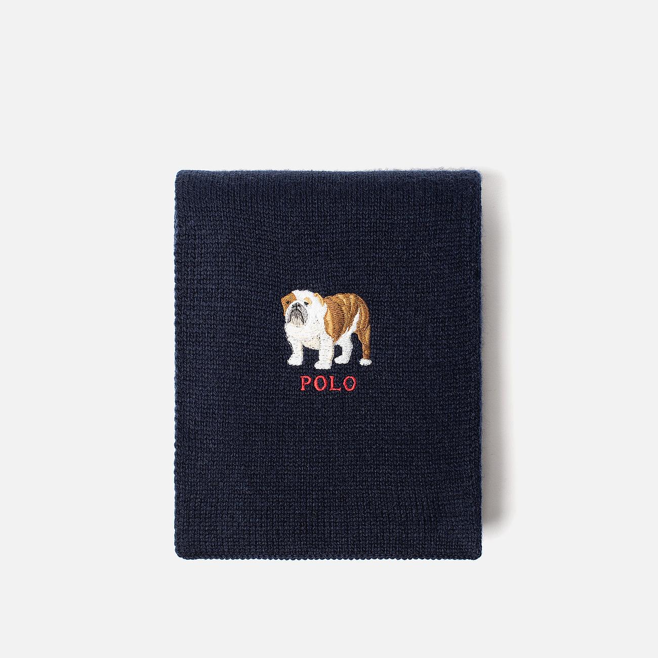 Шарф Polo Ralph Lauren Bulldog Wool Blend Navy