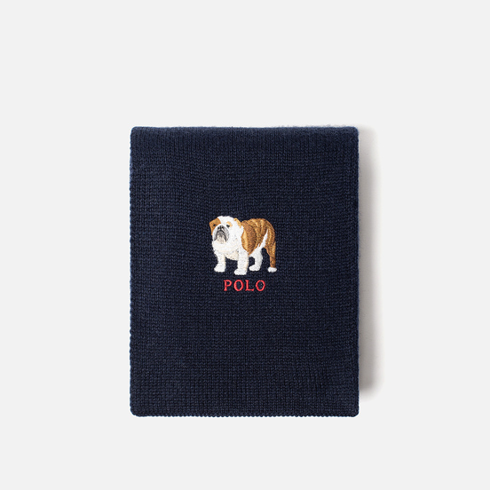 Шарф Polo Ralph Lauren Bulldog Wool Blend Navy