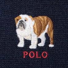 Шарф Polo Ralph Lauren Bulldog Wool Blend Navy фото- 2