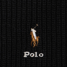 Шарф Polo Ralph Lauren Embroidered Polo Pony Viscose Blend Black фото- 2