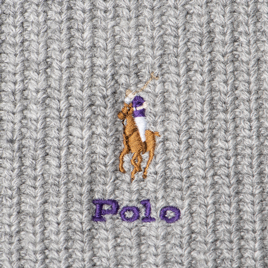 Шарф Polo Ralph Lauren Embroidered Polo Pony Viscose Blend Light Grey Heather