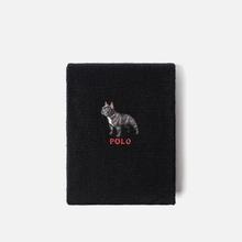 Шарф Polo Ralph Lauren French Bulldog Wool Blend Black фото- 0