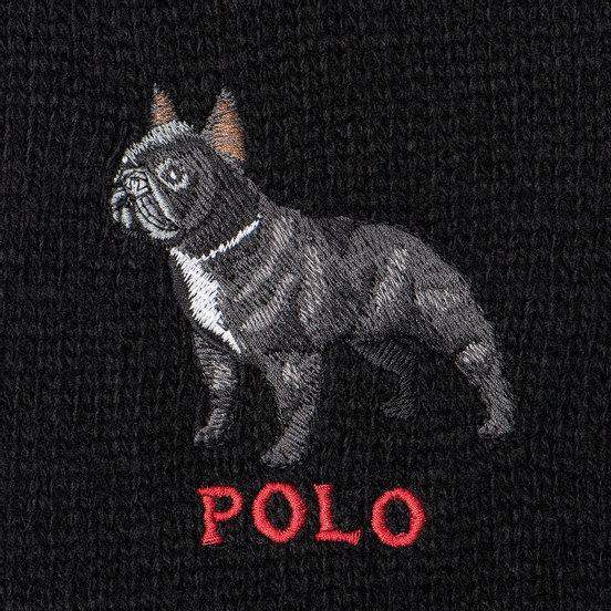 Шарф Polo Ralph Lauren French Bulldog Wool Blend Black