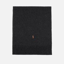 Шарф Polo Ralph Lauren Oblong Sigh It Wool Charcoal Heather фото- 0