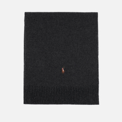 Шарф Polo Ralph Lauren Oblong Sigh It Wool Charcoal Heather