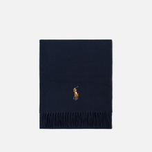 Шарф Polo Ralph Lauren Oblong Wool Big Multi Pony Cruise Navy фото- 0