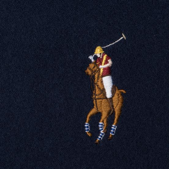 Шарф Polo Ralph Lauren Oblong Wool Big Multi Pony Cruise Navy