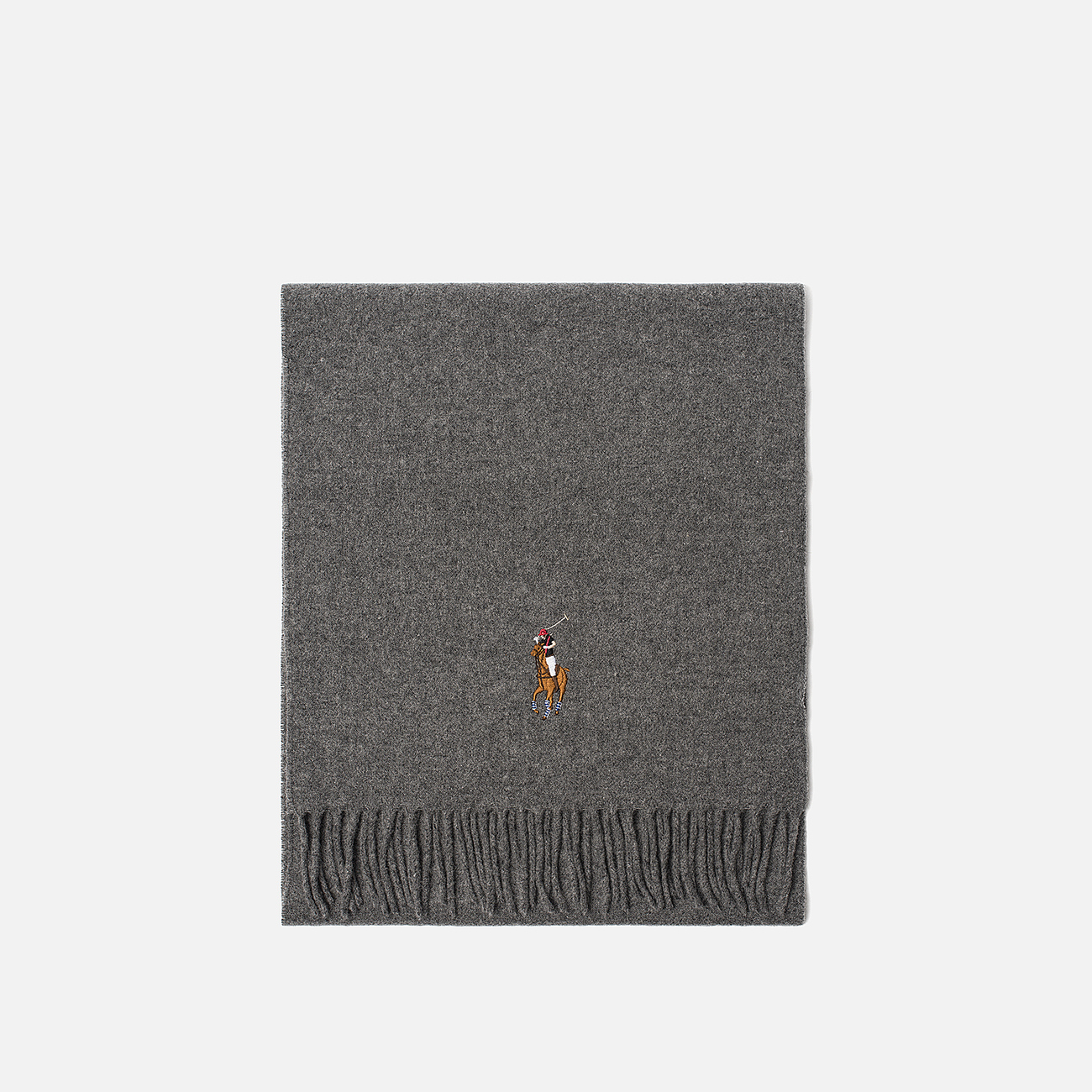 Шарф Polo Ralph Lauren Oblong Wool Big Multi Pony Fawn Grey Heather