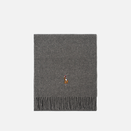 Шарф Polo Ralph Lauren Oblong Wool Big Multi Pony Fawn Grey Heather