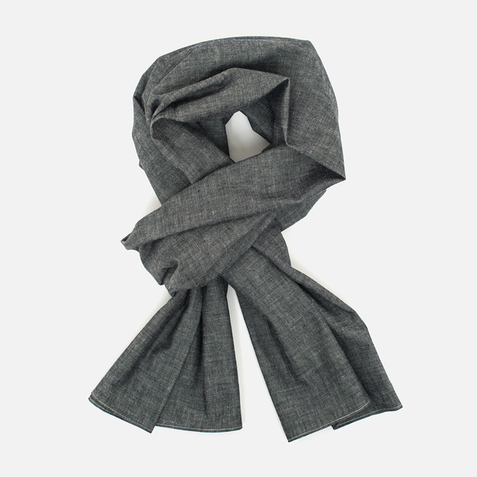 The Hill-Side Selvedge Chambray Large Scarf Black