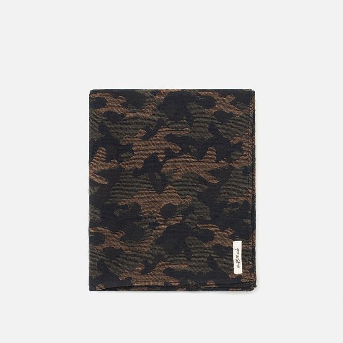 Шарф The Hill-Side Wool Jacquard Camo Olive