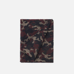 Шарф The Hill-Side Wool Jacquard Camo Red фото- 1