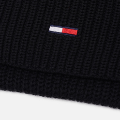 Шарф Tommy Jeans Basic Flag Rib Black