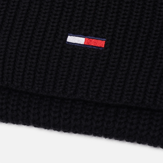 Шарф Tommy Jeans Basic Flag Rib Black